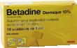 Betadine dermique 10%, solution pour application cutanée en récipient unidose